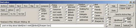 Outlinker Graphical User Interface