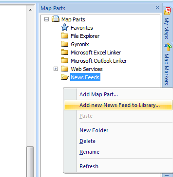 Add news feed to MindManager