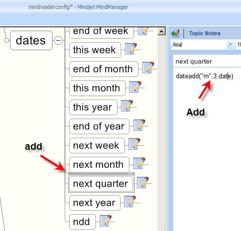 how to add next quarter keyword